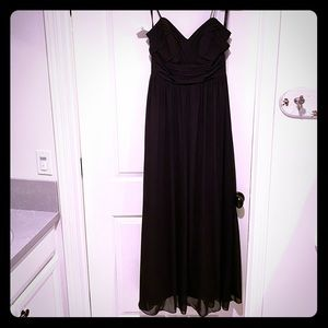 Black Chiffon Spaghetti Strap Dress
